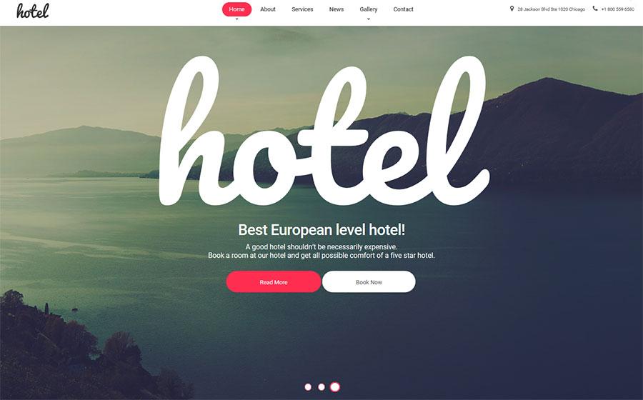 Hotel Hostel WordPress Theme for WordPress