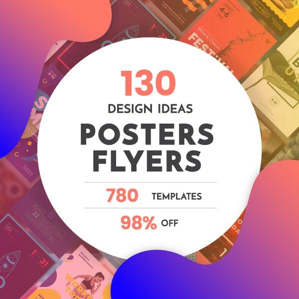 130 Flyer & Posters Bundle