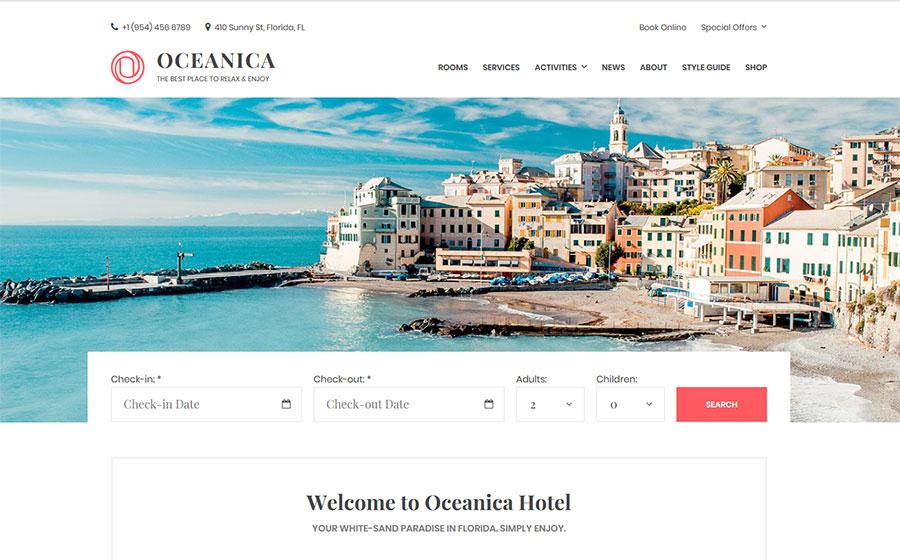 Oceanic WordPress Theme – Template Monster