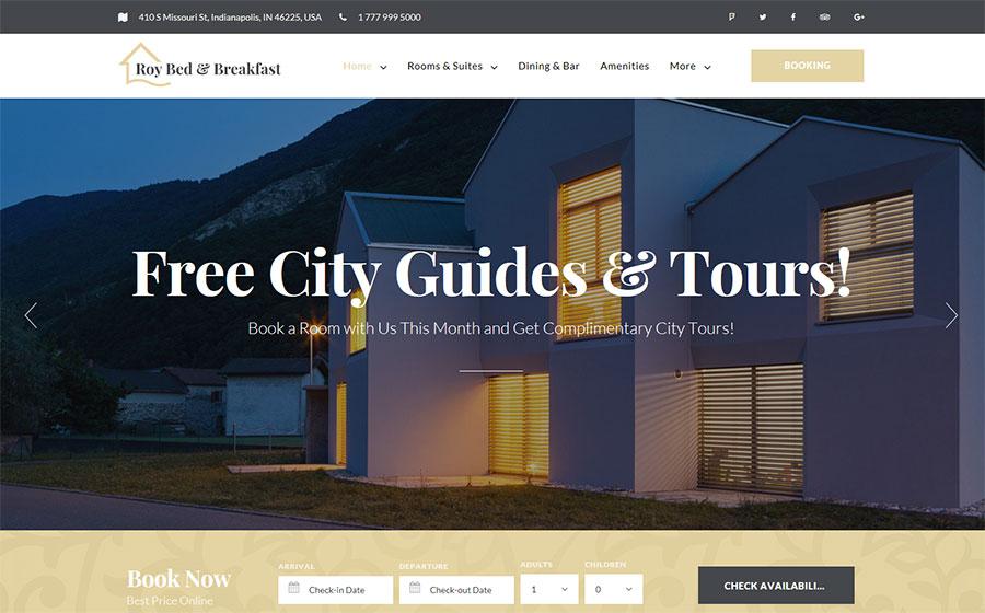 Roy Bed & Breakfast WordPress Theme