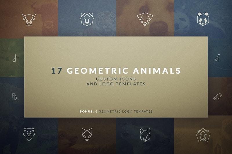 17 Geometric Animal Icons and Logos