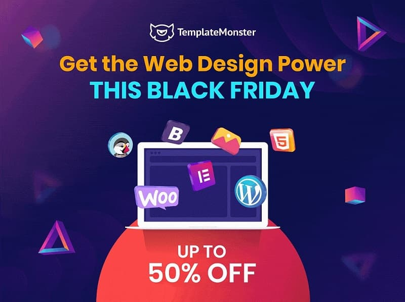 Template Monster Black Friday 2019 - 50% Discount Live Now