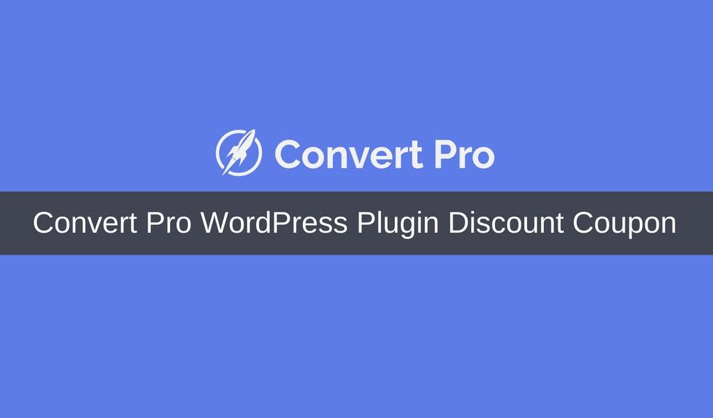Convert Pro Coupon & Discount Code