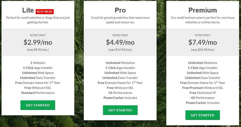 GreenGeeks Black Friday: Shared Hosting Plans
