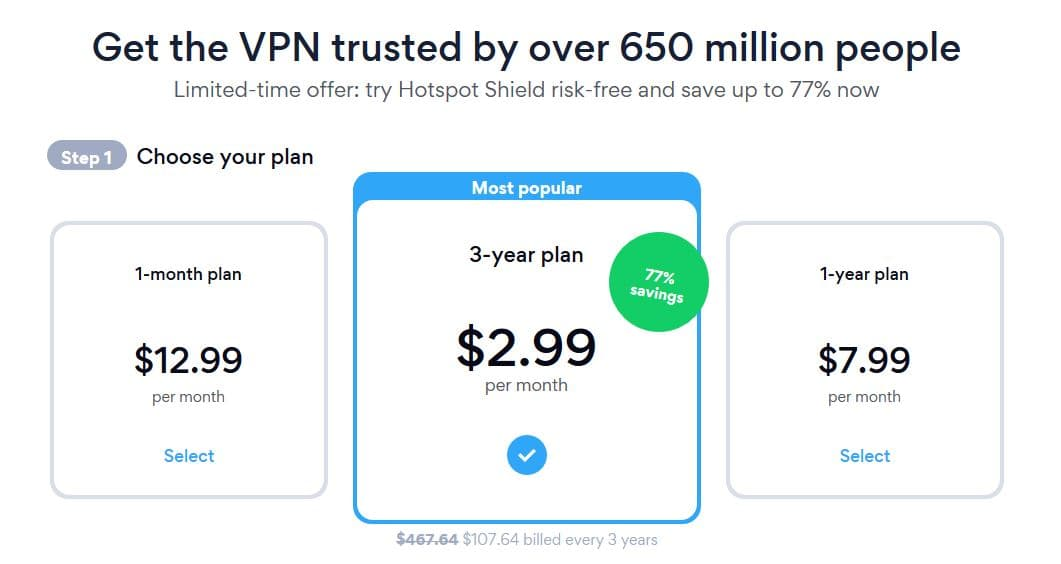 Hotspot Shield Black Friday Sale - 77% Discount