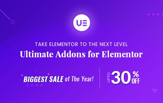 30% Discount on Ultimate Addons for Elementor on Black Friday