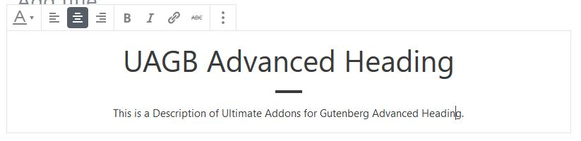 UAGB: Advanced Headings