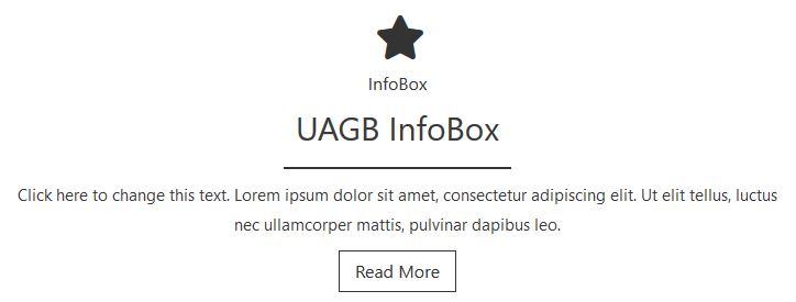 Ultimate Addons for Gutenberg: Info Box