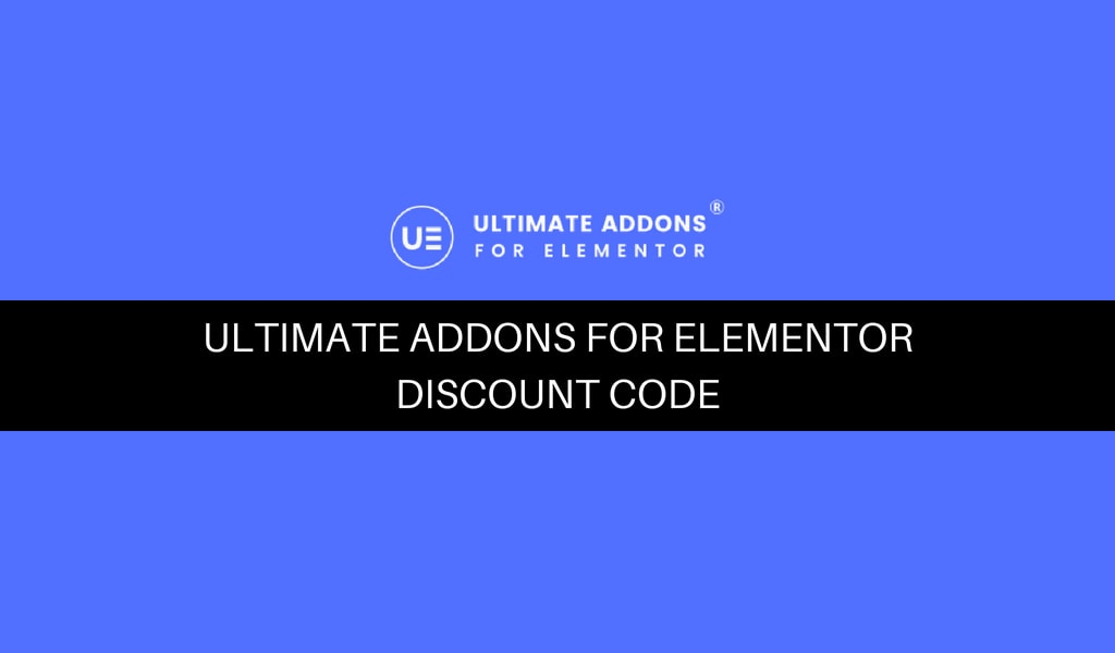 Ultimate Addons for Elementor Discount Code