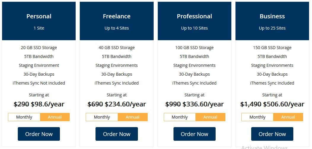 LiquidWeb Managed WordPress Hosting Plans