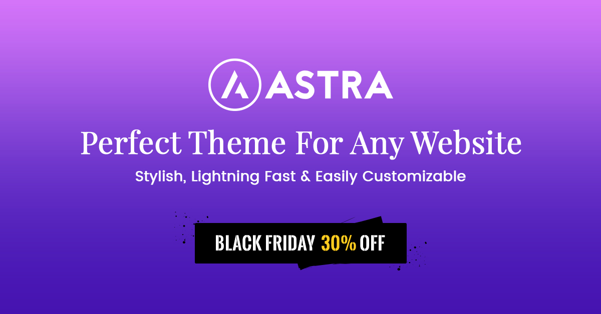 Astra Theme Black Friday - Biggest BrainStormForce Sale of the Year