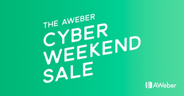 Aweber Black Friday Sale - 25% Discount, Grab Now