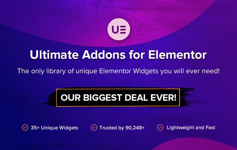 Ultimate Addons for Elementor Black Friday Sale 2019 - 30% Discount on All Plans