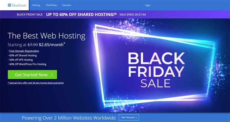 BlueHost Black Friday Sale - $2.65 Only